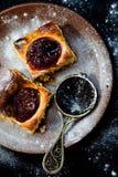 Pudding met jam Royalty-vrije Stock Foto's