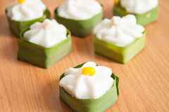 Pudding met kokosnotenbovenste laagje Royalty-vrije Stock Fotografie