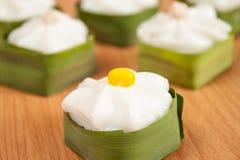 Pudding met kokosnotenbovenste laagje Royalty-vrije Stock Afbeelding