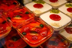 Pudding, with natural fruits.  For winter & best occasions. Pudding, with natural fruits Stock Image