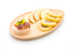 pudding owoc z kiwi i jabłkiem Zdjęcie Royalty Free