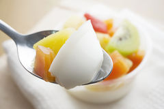 Pudding owocowa sałatka Zdjęcie Stock