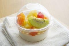 Pudding owocowa sałatka Obrazy Royalty Free