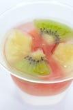 Pudding owocowa sałatka Zdjęcia Royalty Free