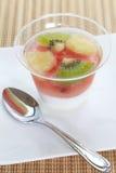 Pudding owocowa sałatka Fotografia Royalty Free