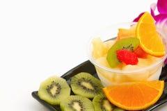 Pudding owocowej sałatki fuzi deser Zdjęcia Royalty Free