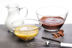 Pudding Preparation Stock Image