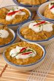 Pudding rosso del curry Fotografia Stock Libera da Diritti