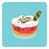 Pudding squisito Fotografia Stock Libera da Diritti