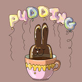 Pudding sweet dessert Royalty Free Stock Photography