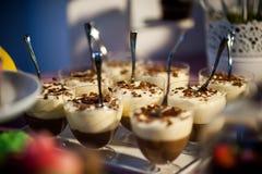 Pudding und Gelee stockfoto