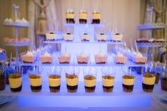 Pudding- und Geleeschokoriegel stockbild
