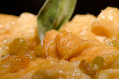Pudding und Rosinen Lizenzfreies Stockfoto