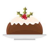 Pudding vector icon. Isolated on white background. Pudding vector icon. Isolated on white background Stock Photos
