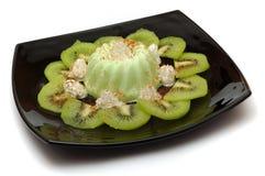Pudding verde Fotografia Stock Libera da Diritti