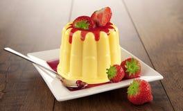 pudding wanilia Zdjęcie Royalty Free
