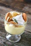 pudding z bananami Zdjęcie Stock