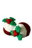Puddings tricotés B de Noël Photographie stock libre de droits