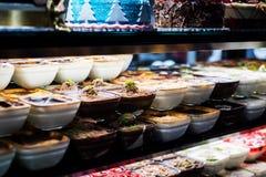 Puddings turcs de lait de bonbons Photos libres de droits