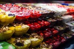 Puddings turcs de lait de bonbons Images stock