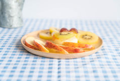 puddingsvruchten met kiwi en appel Royalty-vrije Stock Foto's