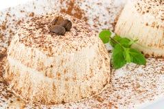 puddingu kawowy semifreddo obraz royalty free
