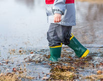 Puddle Boots Stock Photography