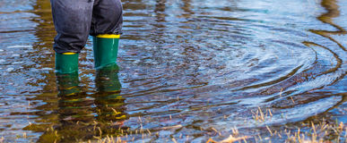 Puddle Boots Royalty Free Stock Photo