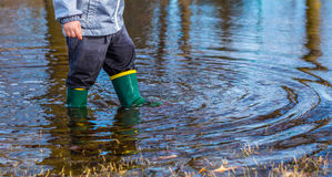 Puddle Boots Royalty Free Stock Images