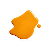 The puddle of a paint spill. The puddle of an oil paint spill isolated over the white background, top view above Stock Images