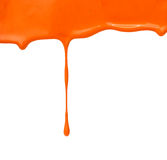 The puddle of a paint spill. Sample color paint on a white background closeup Stock Images