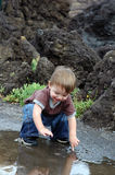 Puddle Play Royalty Free Stock Photos