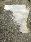 Puddle reflection Royalty Free Stock Photography