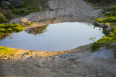 A puddle of water Stock Photo