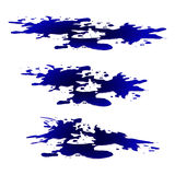 Puddle of water, ink spill clipart. Blue stain, plash, drop. Vector illustration isolated on the white background Royalty Free Stock Photography