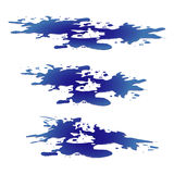 Puddle of water spill clipart. Blue stain, plash, drop. Vector illustration isolated on the white background Royalty Free Stock Image