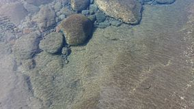 Puddles in the coast. Puddles coast volcanic beach water rocks lava royalty free stock image