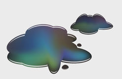 Oil puddles. Puddles of oil, conceptual image, eps10 vector Royalty Free Stock Image