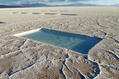 Puddles on Salar Stock Photos