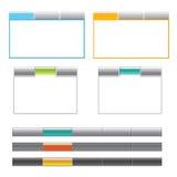 pudełek głównego menu nawigaci zakładka Obraz Royalty Free
