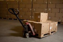 pudełek ręki barłogu ciężarówka obrazy royalty free