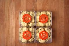 Pudełka ciastka jako prezenty dla pomyślnych powodów Obraz Royalty Free