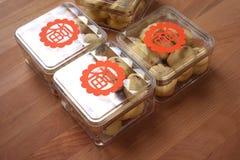 Pudełka ciastka jako prezenty dla pomyślnych powodów Fotografia Stock