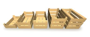 Pudełka dla owoc i warzywo pakować Zdjęcie Stock