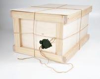 pudełka drewniany zamknięty obraz royalty free