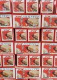 Pudełka Koszerni dla Passover Matzot, dla sprzedaży przy supermarketem obraz royalty free