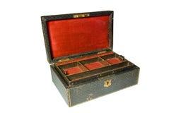 pudełka odosobniony biżuterii rocznika biel Zdjęcie Royalty Free