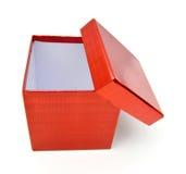 pudełka pusta prezenta czerwień Zdjęcia Stock