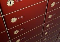 pudełka składa bezpiecznie Zdjęcia Royalty Free