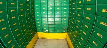 pudełka składa bezpiecznie Obrazy Stock